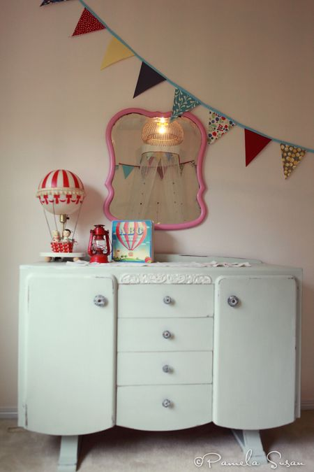 J-room-chalk-paint-dresser-antique-fresh-rain-martha-stewart-bunting-hot-air-balloon-lamp-book-pamela-susan