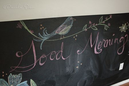 Chalkboard-wall-kitchen-morning-greetings