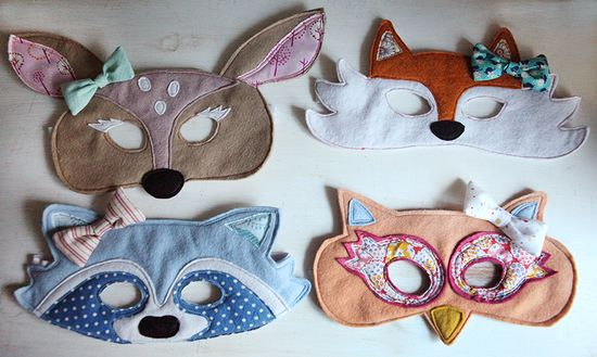Woodland-animals-masks-creatures-felt-diy